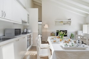 A view of the Dining room of our Apartment 5D at Palazzo Scolari