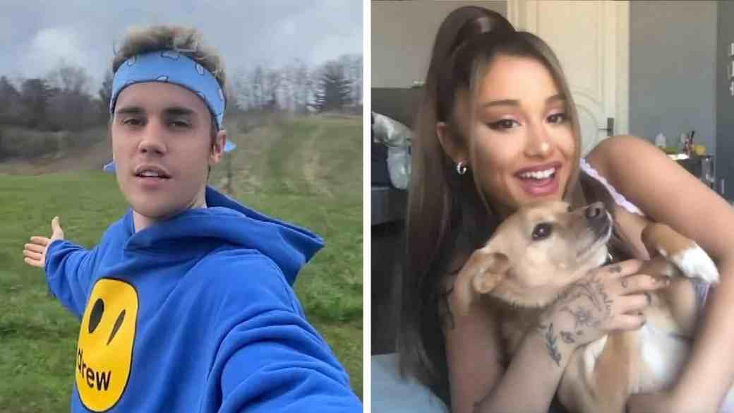"""Justin e Ariana no vídeo de """"Stuck With U"""""""