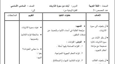 صورة إعداد رائع لدروس مبحث اللغة العربية للصف السادس الفصل الأول