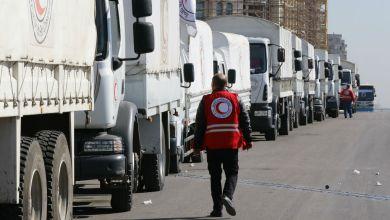 Photo of وصول 9 شاحنات مساعدات إلى السوريين في محافظة درعا
