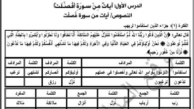 Photo of أوراق عمل رائعة لدرس سورة فصلت للغة العربية الصف الثامن