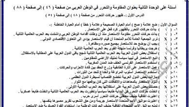 Photo of أسئلة مجابة وهامة لدرس ظهور حركات التحرر للدراسات الاجتماعية تاسع