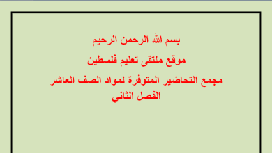 Photo of مجمع التحاضير المتوفرة لمواد الصف العاشر الفصل الثاني