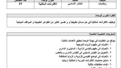 Photo of تحضير بنظام المخرجات لمبحث الرياضيات للصف العاشر الفصل الثاني