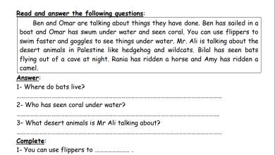 Photo of أوراق عمل رائعة وشاملة للوحدة 11 لمبحث اللغة الإنجليزية الصف السادس
