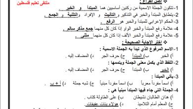 Photo of مراجعة رائعة لقواعد اللغة العربية للوحدة الأولى والثانية للصف السابع الفصل الثاني