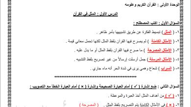 Photo of ملخص هام جدا لوحدة القرآن الكريم لمبحث التربية الإسلامية للصف التاسع الفصل الثاني