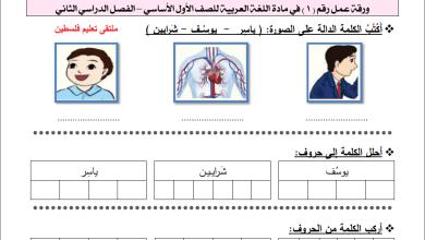 Photo of أوراق عمل رائعة لحرف الياء لمبحث اللغة العربية للصف الأول الفصل الثاني