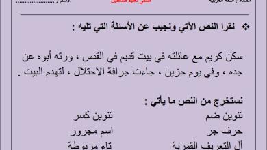 Photo of مجمع أوراق عمل وامتحانات نصف الفصل الثاني لكافة مواد الصف الثاني