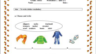 Photo of ورقة عمل تقويمية رائعة للوحدة الرابعة لمبحث اللغة الإنجليزية ثالث الفصل الثاني