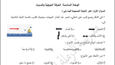 Photo of أوراق عمل شاملة لمراجعة وحدة الحركة الموجية لمبحث العلوم ثامن الفصل الثاني