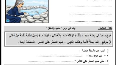 Photo of أوراق عمل رائعة للدروس 13-15 لمبحث اللغة العربية للصف الثاني الفصل الثاني