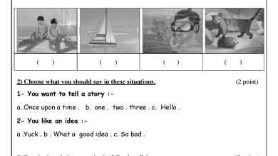 Photo of امتحان حكومة مصور لنهاية الفصل الثاني لمبحث اللغة الإنجليزية سادس 1