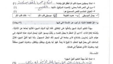 Photo of امتحان وكالة مصور ومجاب لنهاية الفصل الثاني لمبحث اللغة العربية للصف الثامن 2
