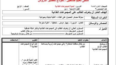 Photo of مجمع تحاضير المعلم لكافة المواد الدراسية للصف الرابع الفصل الأول