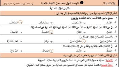 Photo of كل ما يحتاجه طالب الصف السابع لتقديم امتحان العلوم والحياة لنهاية الفصل الأول