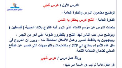 Photo of مراجعة رائعة ومجابة لوحدة عرس ثلجي لمبحث اللغة العربية خامس الفصل الثاني