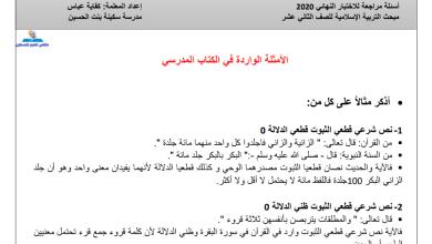 Photo of مجمع أسئلة اذكر مثالا لما يأتي الهامة والمجابة لمبحث التربية الإسلامية للتوجيهي