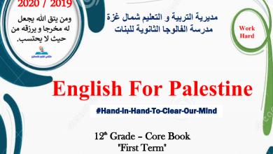 Photo of مراجعة مجابة وهامة جدا لمحتويات الكتاب الأول للغة الإنجليزية الفصل الأول للتوجيهي