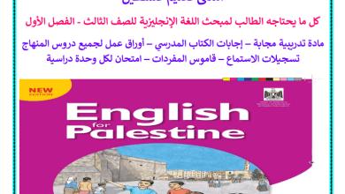 Photo of كل ما يحتاجه الطالب من ملفات تعليمية لمبحث اللغة الإنجليزية للصف الثالث الفصل الأول