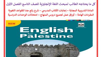 Photo of كل ما يحتاجه الطالب من ملفات تعليمية لمبحث اللغة الإنجليزية للصف التاسع الفصل الأول