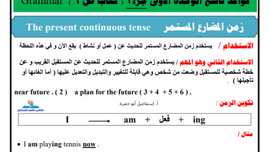 صورة ملخص مهم جدا ورهيب لقواعد اللغة الإنجليزية للوحدات 1-3 للصف التاسع الفصل الأول