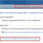 Windows 7: Imágenes del Sistema – Recuperar imagen