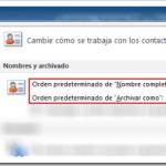 Outlook 2010: Contactos, mostrar como – Orden