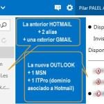 Outlook.com – Opciones – Vincular cuentas – Alias