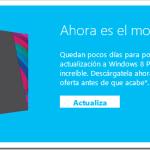 Últimos días de actualizar a Windows 8 a un precio especial – 31 de enero