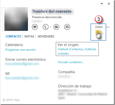 Contactos Outlook 2013 3
