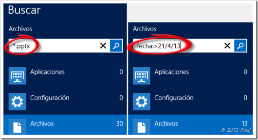 Búsqueda en Windows 8 2