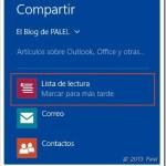 Windows 8.1 Preview | Lista de lectura, una nueva aplicación y compartir