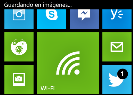 Captura de pantalla en Windows Phone