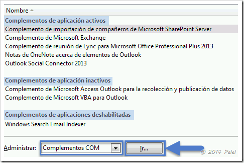 Complementos Outlook 2013 - Palel.es
