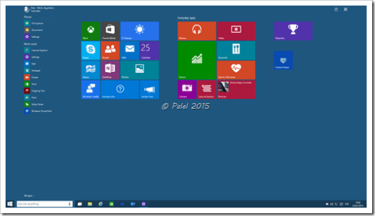 Windows 10 build 9926 - Palel.es