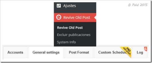 Revive Old Post - Configuración - Palel.es