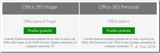 Prueba gratuita de Office 365/2016