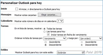 Capítulo A—13: Outlook para hoy
