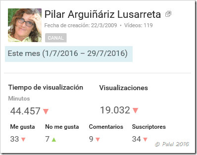 Estadísticas julio 2016 - palel.es