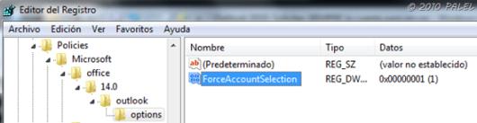 Trayectoria del Registro de Windows para la nueva clave