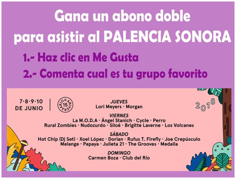 Bases Sorteo Festival Palencia Sonora