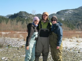 Mark recapture crew for Oregon spotted frog breeding season spring 2012