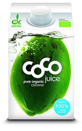 10 x Dr. Antonio Martins Bio Coco Juice Pur 500 ml - 1