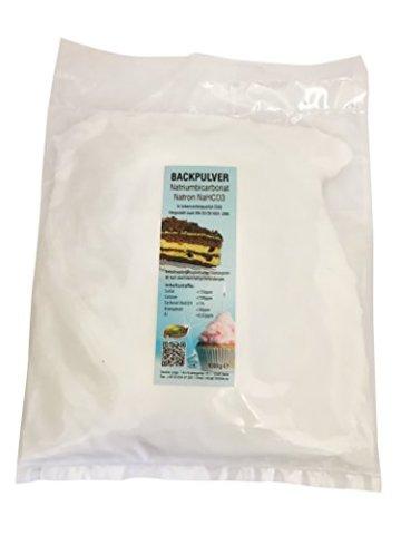 1kg Natron, Natriumhydrogencarbonat, beste Lebensmittelqualität, Backpulver E500 - 1