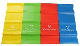 4er-Set Fitnessbänder »Lavana« / Sportband, Trainingsband in den Farben und Stärken gelb 0,35 leicht / grün 0,45 mittel / rot 0,55 kräftig / blau 0,75 stark - 1