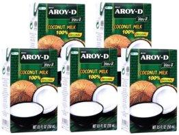 Aroy-D - Kokosmilch - 5er Pack (5 x 250ml) - 1