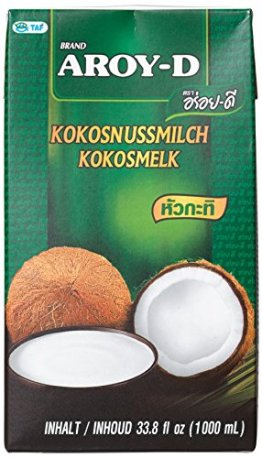 Aroy-D Kokosnussmilch, Fettgehalt: ca. 17%, 4er Pack (4 x 1 l Packung) - 1