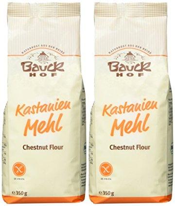 Bauckhof Kastanienmehl glutenfrei, 2er Pack (2 x 350 g) - Bio - 2