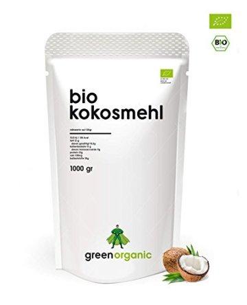 BIO KOKOSMEHL | Low-Carb Backen | Glutenfrei | Vegan | Entölt | Proteinreich | Ballaststoffreich | Paleo Superfood | Premium |Nachhaltig und Fair angebaut | Diät | 1000g - 1